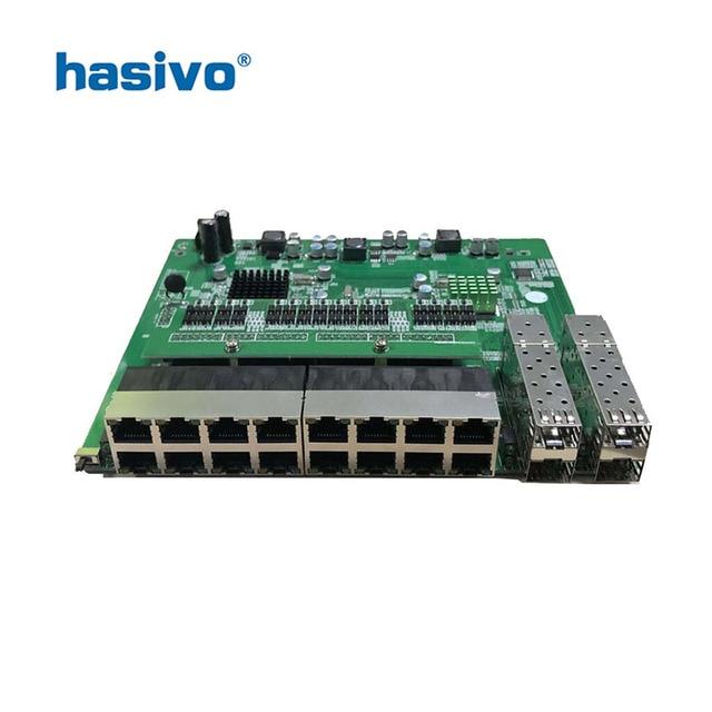 Reverse PoE switch 16x10M/100M PoE & 4SFP Port Gigabit Ethernet switch PCB motherboard