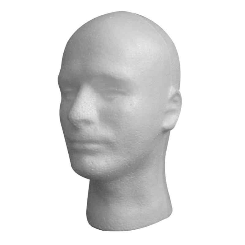 Pratik erkek köpük manken mankeni kafa modeli şapka gözlük ekran köpük manken başkanı modeli şapka peruk ekran standı raf