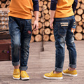 Free shipping, the Spring and Autumn kids pants boys baby Stretch joker jeans children jeans, boy ripped jeans.
