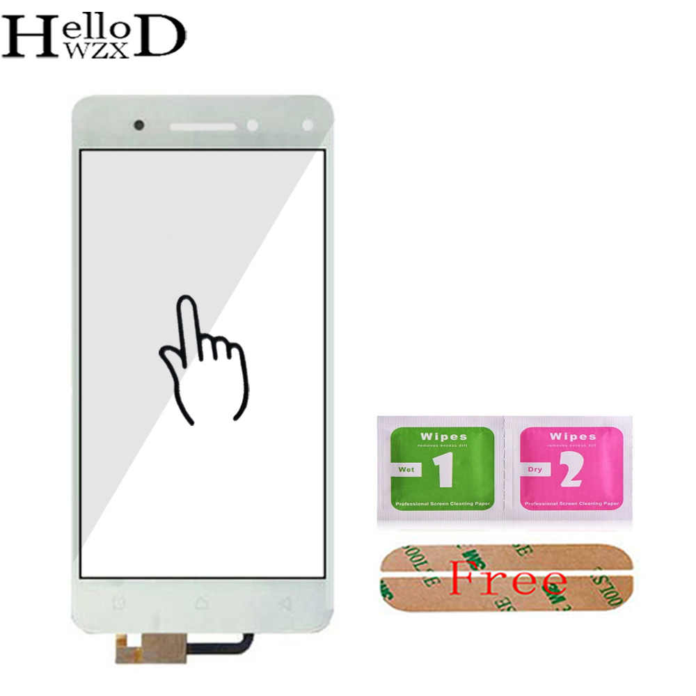 HelloWZXD 5.0'' Touch Glass For Lenovo Vibe S1 Touch Screen Front Outer Glass Digitizer Panel Parts Sensor Flex Cable Adhesive