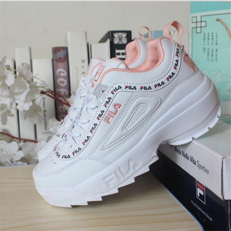 2019 Chunky Sneakers chaussures décontractées Vulcaniser Femelle Mode Femmes coins Baskets à lacets Loisirs Footwears panier grande taille 44