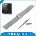 24mm Milanese Watchband for Sony Smartwatch 2 SW2 Mesh Stainless Steel Watch Band Metal Strap Bracelet with Tool and Spring Bar