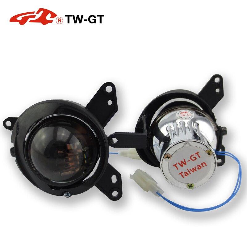 TW GT 2,0 дюймов hid bi xenon противотуманный светильник объектив проектора Точечный светильник foglamp H11 для MITSUBISHI COLT 3D/5D 2004 2009 LANCER 2008