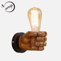 לופט תעשייתי מנורת קיר בסגנון מודרני שרף יד שמאל ימין LED מנורות קיר אורות קיר חדר שינה סלון תאורה הביתה בר