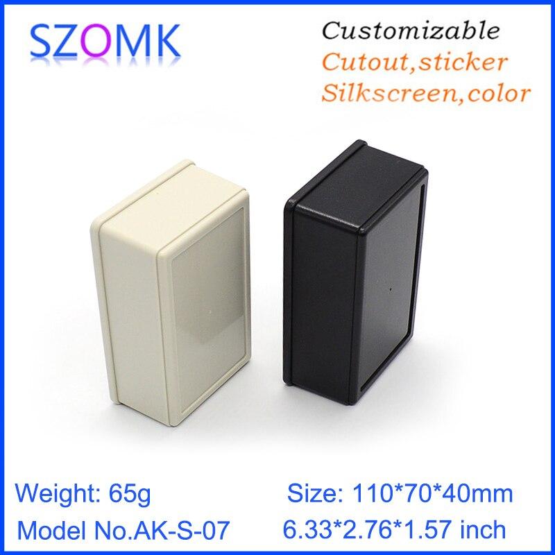 цена на 1 piece, 110*70*40mm free shipping szomk plastic case electronic box enclosure diy junction box abs small instrument control box