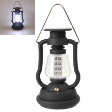 цена High Quality Super Bright Outdoor 16 LED Light Solar Panel Hand Crank Dynamo Lamp Camping Lantern