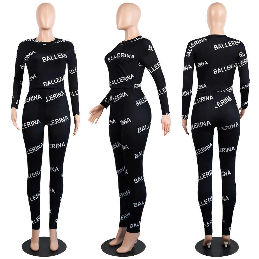 ... 2018 Full Sleeve Winter tracksuit Women Set O-Neck Letter Print  Sporting Lady fashion sexy ... 375030117