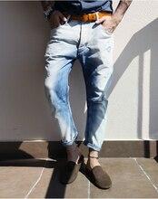 2016 Бренд мужчин Джинсы Прямые Новая Мода Высокое качество Высокого Ранга Тонкие джинсы Прямые Ретро мужчины джинсы
