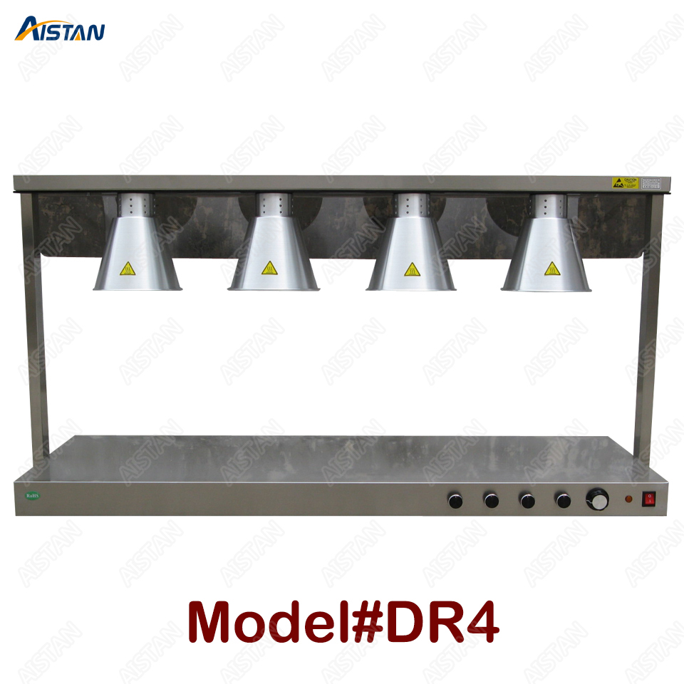 DR3/DR4 electric counter top food warmer heating lamp for buffet and restaurant 3