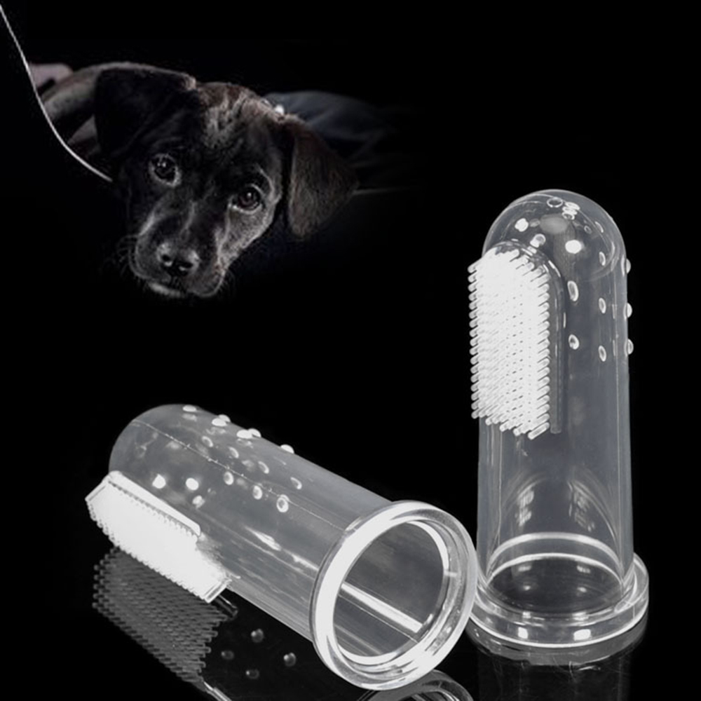 Dog Toothbrush Pet Finger Toothbrush Dog Toys Environmental Protection Silicone Dogs Cats Clean Teeth Pet Supplies
