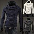 2017 Sale men's clothing Hoodies And Sweatshirts Popular Diagonal Zipper Hooded Men zips hoody|  outerwear 3colors Fleece Hoodie