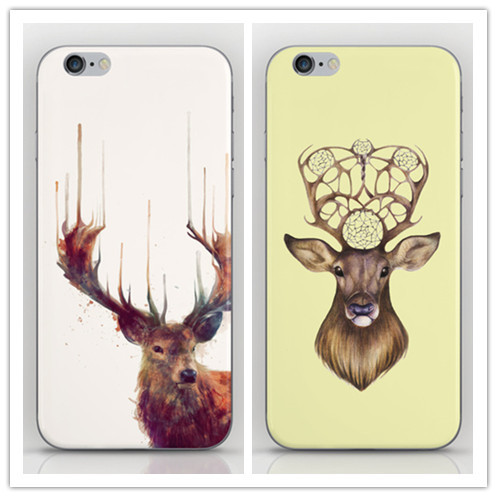 1 Piece Deer Animal Style Luxury Cases iPhone 4 4s PC Hard Cover Housing 4g Cell phone sets - Dream Hero Shop store