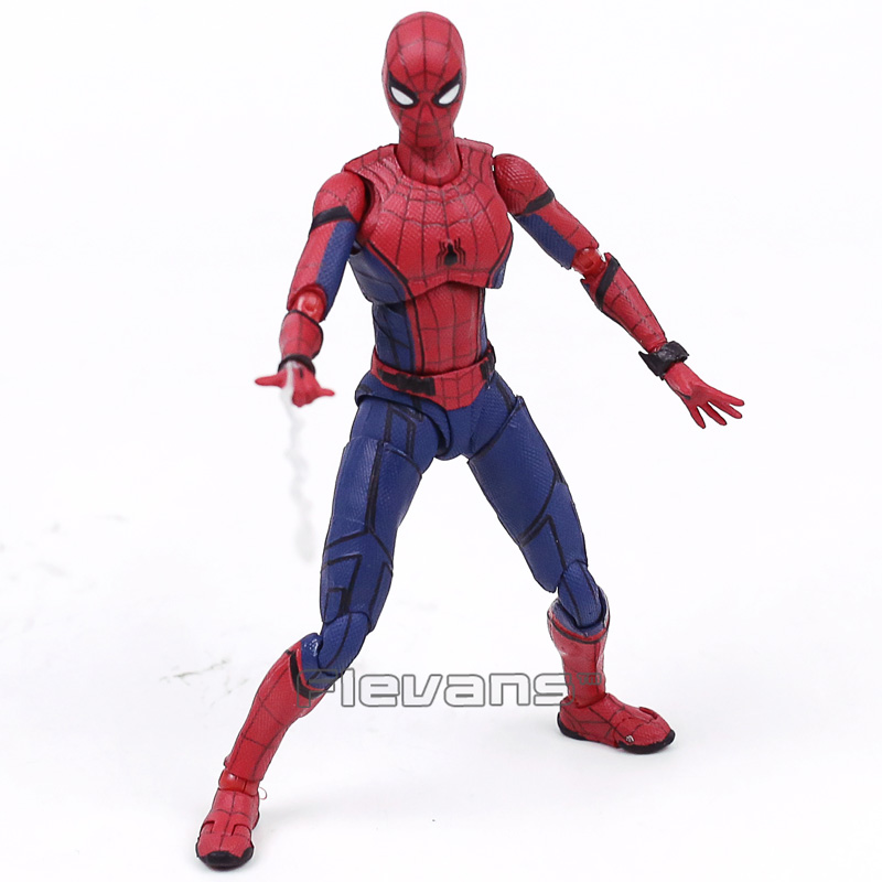 SHFiguarts Spider Man Homecoming Spiderman PVC Action Figure Collectible Model Toy with Retail Box