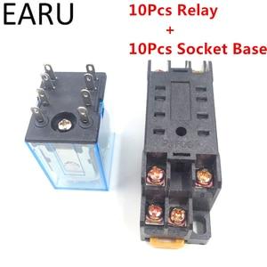 Interruptor eletromagnético geral do relé da bobina do relé de my2p hh52p my2nj micro mini com base do soquete ac 110 v 220 v dc 12 v 24 v
