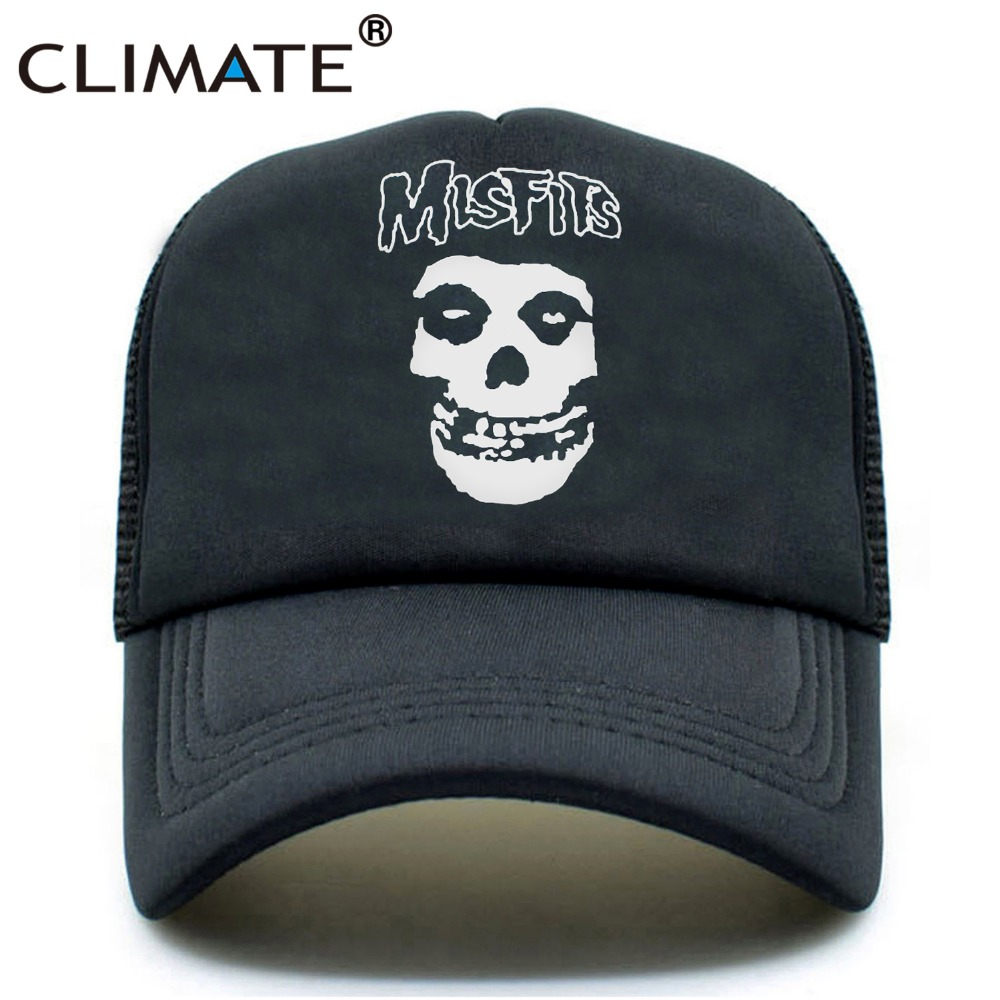 CLIMA The Misfits Band Skulls Summer Cool Gorras de malla The Misfits - Accesorios para la ropa