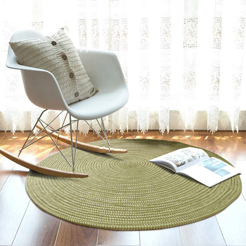 Super Fiber Rope Hand Weaving Round Carpet Absorbent Living Room Bedroom Handmade Rug Machine Washable Home Decorator Floor Rug