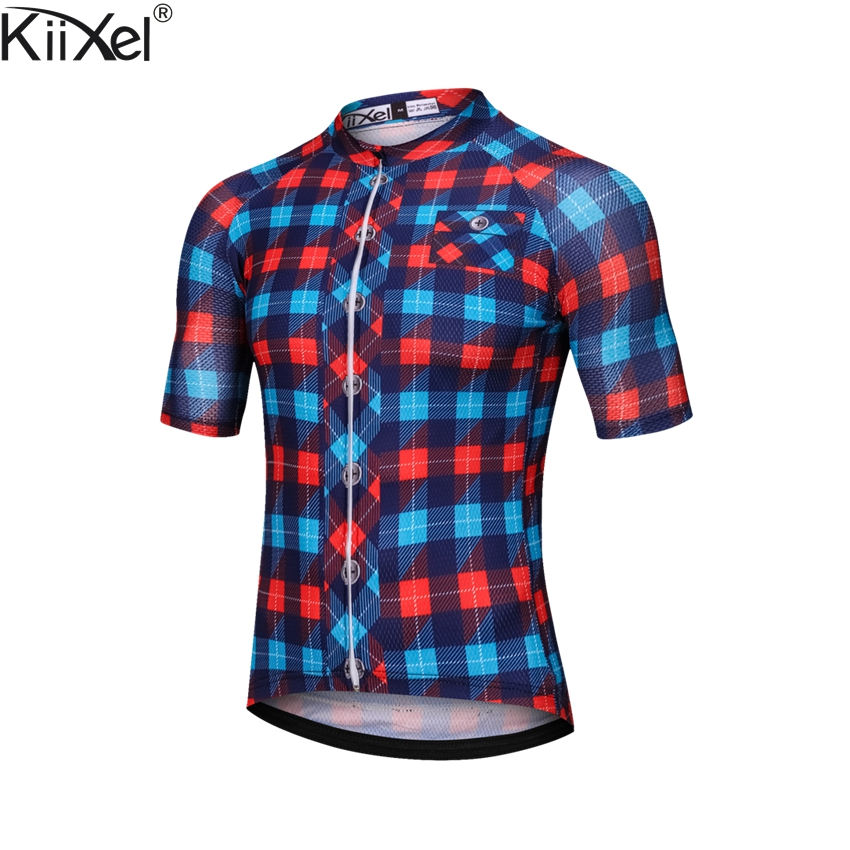 KiiXel Pro Radfahren Trikots Mountainbike Kleidung Biciletas Fahrrad MTB Tragen Maillot Roupa De Ciclismo Hombre Verano Kleidung