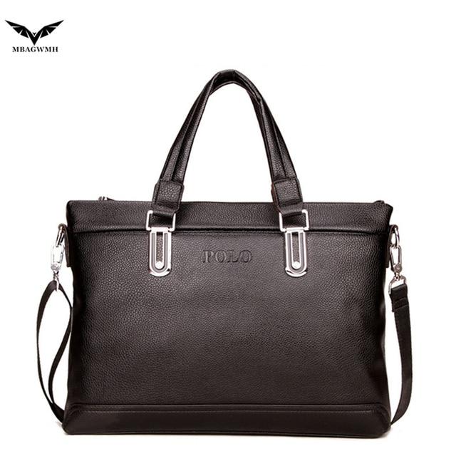 Polo Men Messenger Shoulder Bag 2016 New Famous Brand PU Leather Briefcases Casual Business Crossbody Bag Men Fashion Handbag