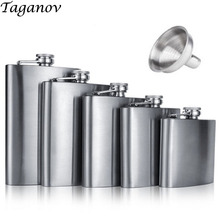 4 5 6 7 8 9 10 18 OZ Stainless Steel Hip Flask with Funnel Liquor Whisky Outdoor Portable Pocket Flasks Alcohol Bottle heupfles