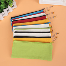100pcs/set Wholesale Customized Student Canvas Pen Bag Printable Logo Factory