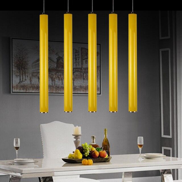 Contemporáneo moderno cilindro LED Lámparas colgantes cocina ...