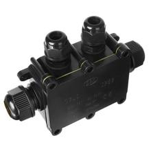 цена на Mayitr 4 Way Plastic Waterproof Electrical Junction Box Electrical Junction Box Cable Wire Connector IP68 For External Wiring