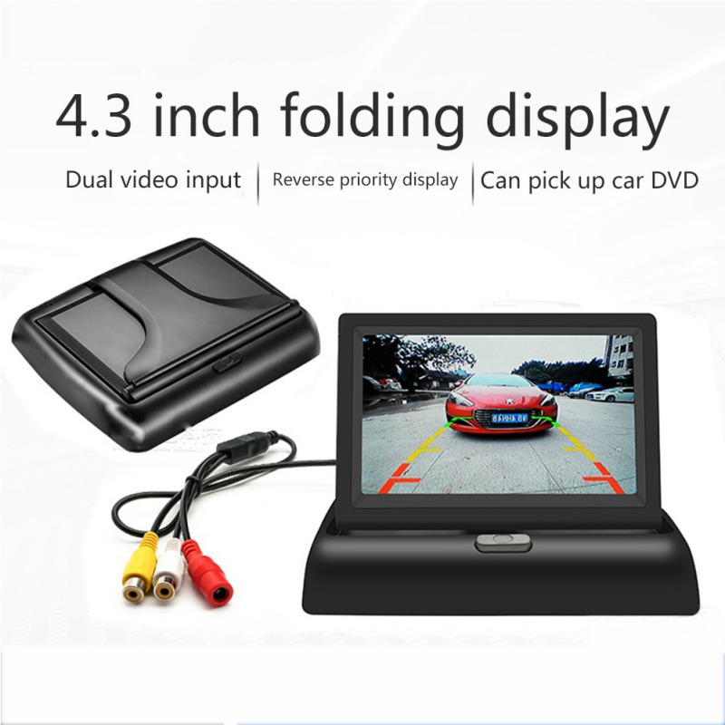 4 3 inch Foldable Car Monitor TFT LCD Display Cameras Reverse Camera Parking System for Car Rearview Camera DVD VCD in Car Monitors from Automobiles Motorcycles