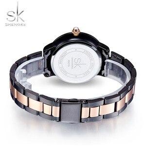 Image 4 - Shengke Rose Gouden Horloge Vrouwen Crystal Decoratie Luxe Quartz Horloge Vrouwelijke Polshorloge Meisje Klok Dames Relogio Feminino
