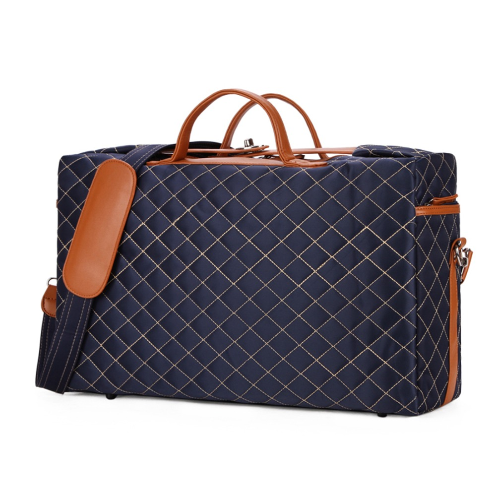 eedb143472ad VICUNA POLO Diamond Lattice Pattern Large Size Mens Travel Duffle Bag Anti  theft Buckle Open Men Traveling Bag Casual Handbags-in Travel Bags from  Luggage ...