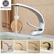 2016 Creative Design Brass Basin Sink Faucet Single Handle Bathroom Mixers Deck Mounted 8-modles