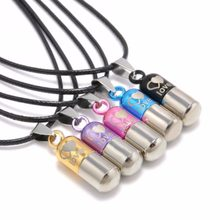 Classic Metal Urn Cremation Chain Necklace Shellhard Ash Holder Keepsake Love Pill Pendant Necklaces Charm Jewelry For Women Men(China)