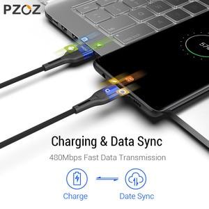 Image 2 - Pzoz磁気ケーブルマイクロusb c高速充電アダプタマイクロusbタイプcマグネット充電器タイプcケーブルiphoneサムスンxiaomiコード