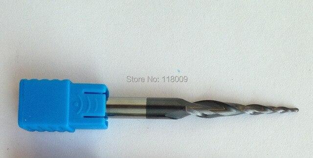 Ücretsiz shipping 5PCS R1.5 * 100 * D10 * 150 HRC55 Tungsten katı karbür Kaplı Konik Topu Burun Frezeler konik ve konik frezeler