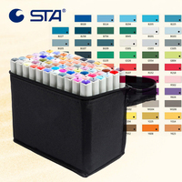 STA 80 Colors Art Marker Alcoholic Oily Marker Set For Manga Stabilo Dual Headed Artist Sketch