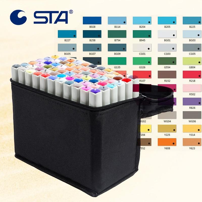 Marcadores da Arte sta 80 cores arte marcador Art Marker Nib : 1mm/6mm