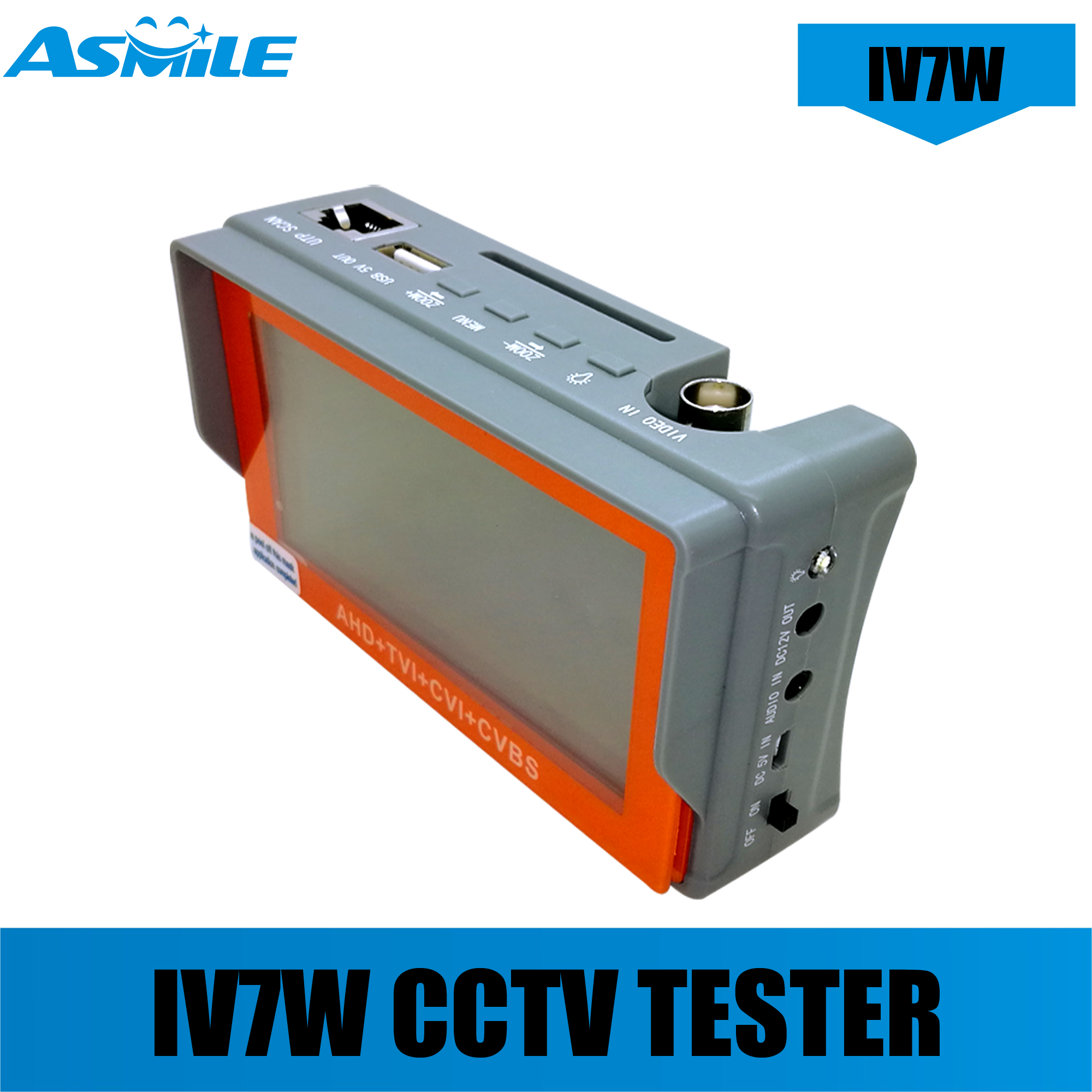 IV7W 4 In 1 Tester Pro 5MP AHD CVI TVI CVBS CCTV Security Tester Monitor With 4.3inch Screen 5V2A 12v1A