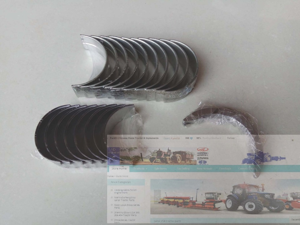 Zhejiang Xinchai 490BT, set bearings including main, connecting rod bearing and thrust rings (all stardard size), part number: yituo x1004 tractor parts the set of main bearing connecting rod bearing and thrust bearings for one engine