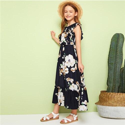 SHEIN Kiddie Floral Print...