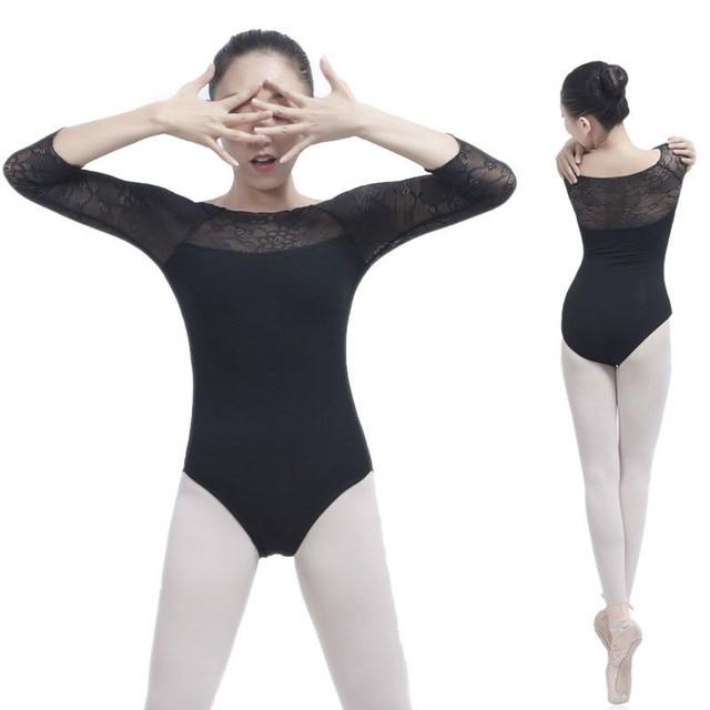 63311d4c0 Adult Women Ballet Dance Dancewear Gymnastics Leotard Mesh Lace Tutu ...