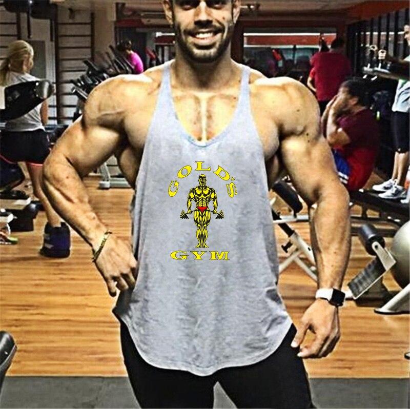 Nova Parte Superior Do Tanque de Musculação Homens Fitness Ginásios ... 6cd61c7b7dd