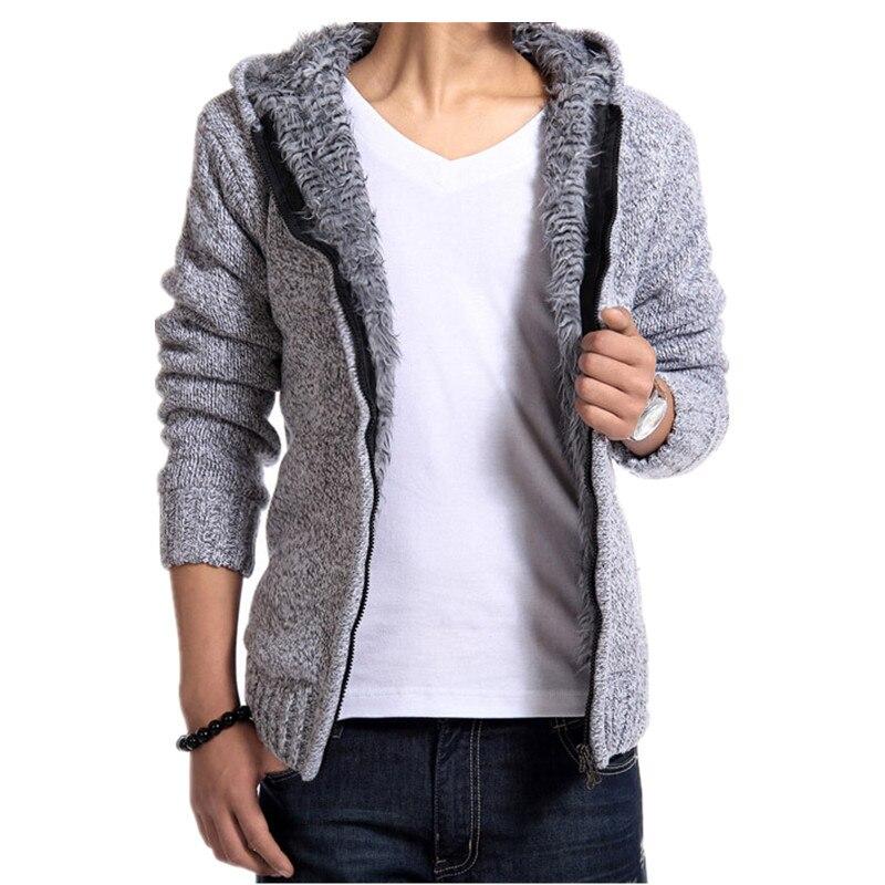 Hot Sale Fashion font b men s b font font b sweaters b font velvet warm