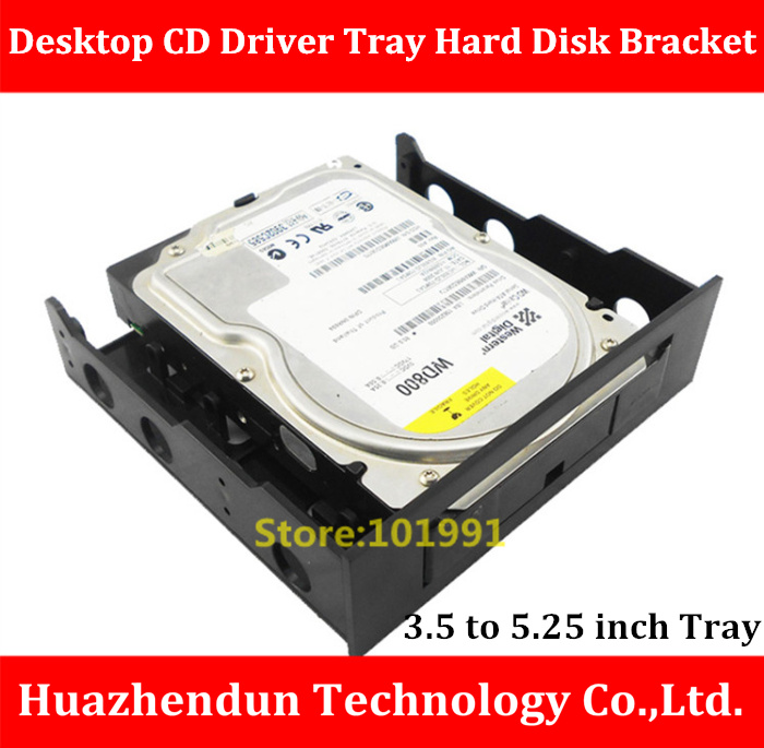 New Arrivals 3.5  to  5.25  Desktop CD Driver Tray Hard Disk Bracket  SSD and HDD Conversion Bracket   Giving away screws brand new ssd hdd 2 5 to 3 5 mounting metal bracket for desktop pc case tray kit with screws free shipping