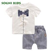 SOGNI ENFANTS D'été Bébé Garçons Vêtements Casual Enfants Vêtements Toddler Vêtements Set Lettre Coton manches courtes t shirt + shorts ensembles