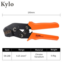 SN-28B Non-Insulated Tabs Terminals Crimper hand tool set crimping tool alicate For crimping TAB terminals fsc 156b non insulated tabs terminals plier crimper 1 5 2 5 4 6mm2 awg 20 10