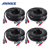 ANNKE 4PCS A Lot 30M 100 Feet CCTV BNC Video Power Cable For CCTV AHD Camera