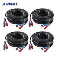 ANNKE 4PCS A Lot 30M 100 Feet CCTV BNC Video Power Cable For CCTV AHD Camera