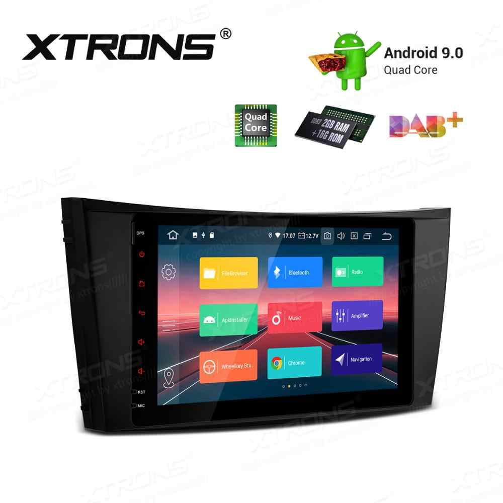 "8 ""Android 9.0 Pie OS Mobil Multimedia Navigasi GPS Radio untuk Mercedes Benz Cls-class W219 2005- 2006 CLS-350 CLS-500 CLS55 AMG"