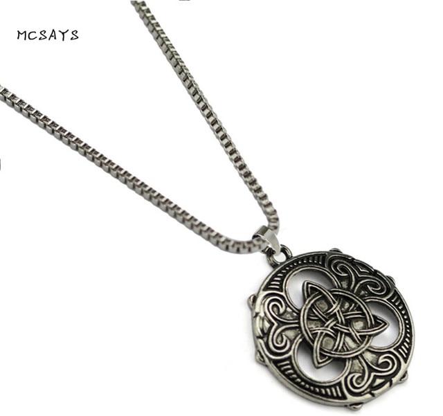 MCSAYS Norse Viking Jewelry Ireland Amulet Odin Knot Round Pendant