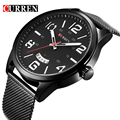 Curren Relojes de Los Hombres de Primeras Marcas de Lujo de Cuarzo de Acero Inoxidable Lleno de Relojes Deporte de Los Hombres Relojes Relogio masculino 2016 reloj hombre