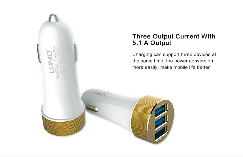 LDNIO-DL-C50-3-Usb-Car-Charger-For-iPod-iPhone-iPad-GPS-Smart-Cell-Phones-Tablests (3)